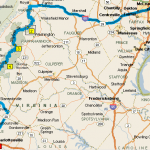Fahrt von Washington nach Charlottesville VA